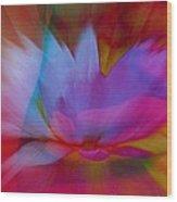 Trancendent Lotus Wood Print
