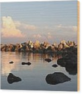 Tranquil Inlet Wood Print