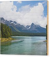 Tranquil Lake In The Canadian Rockies Wood Print