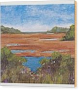 Tranquil Marsh Wood Print
