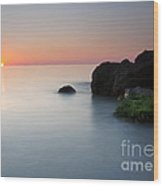 Tranquil Sunset Wood Print by Mike  Dawson