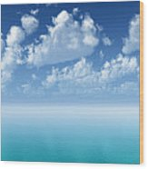 Tranquil Turquoise Ocean Wood Print