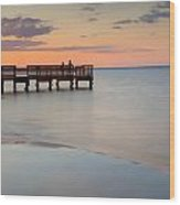 Tranquility At The Bayshore Wood Print