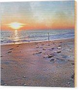 Tranquility Beach Wood Print by Betsy Knapp