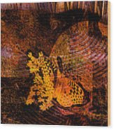 Tranquility Butterfly Collage Art  Wood Print