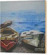 Tranquility Till Tide From The Farewell Songs Wood Print by Prasenjit Dhar