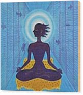 Transcendental Meditation Wood Print