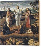 Transfiguration Of Christ 1487 Giovanni Bellini Wood Print