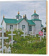 Transfiguration Of Our Lord Russian Orthodox Church In Ninilchik-ak Wood Print
