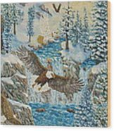 Transformation Of The Eagles Wood Print