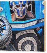 Transformer Man Mime Wood Print