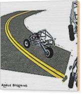 Transformer Transporter Motorcycle Turn Wood Print