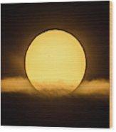 Transit Of Mercury Near Sunrise Wood Print
