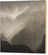Translucent Rain Clouds Pour Wood Print
