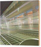 Transparent Trains Wood Print