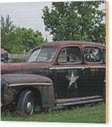 Transportation - Classic - Highway Patrol Wood Print
