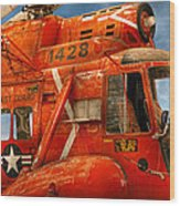 Transportation - Helicopter - Coast Guard Helicopter Wood Print