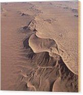 Transverse Sand Dune Namib-naukluft Np Wood Print