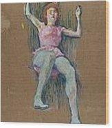 Trapeze Artist At The Medrano Circus Wood Print