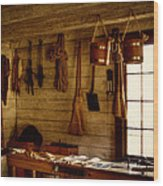 Trapper Supplies At The General Store Wood Print