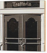 Trattoria Door Palm Springs Wood Print