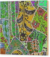 Travel Shopping Colorful Tapestry 8 India Rajasthan Wood Print