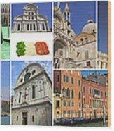 Travel To Venice  Wood Print