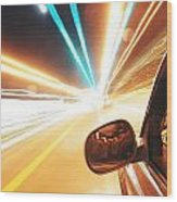 Traveling At Speed Of Light Wood Print