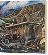 Traveling Car Wood Print