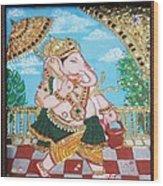 Travelling Ganesh Wood Print