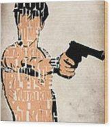 Travis Bickle - Robert De Niro Wood Print by Ayse Deniz
