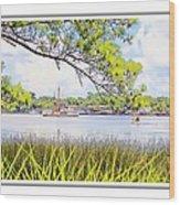 Trawler Waterscape Wood Print