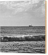 Trawling The Horizon Wood Print