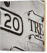 Tre 120 Wood Print by Joan Carroll