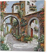 Tre Archi Wood Print by Guido Borelli
