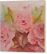 Tre Rose Wood Print