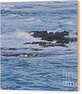 Treacherous Shorebreak Wood Print