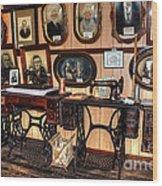 Treadle Sewing Machines Wood Print