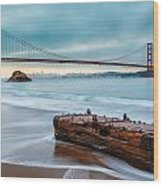 Treasure And The Golden Gate Bridge Wood Print by Sarit Sotangkur