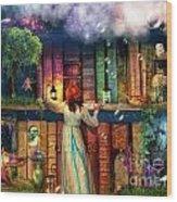 Fairytale Treasure Hunt Book Shelf Variant 2 Wood Print