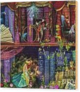 Fairytake Treasure Hunt Book Shelf Variant 4 Wood Print