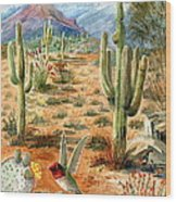 Treasures Of The Desert Wood Print