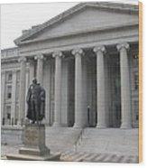 Treasury Department Washington Dc Wood Print