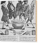 Treaty Of Paris Cartoon Wood Print