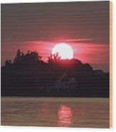 Tred Avon Sunset Wood Print by Lainie Wrightson