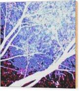 Tree Battle Wood Print