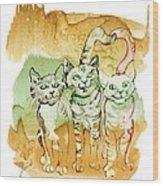 Tree Brothers  Wood Print