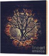 Tree Circle 2 Wood Print by Milliande Demetriou