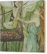 Tree Fey Wood Print
