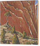 Tree Hill Wood Print